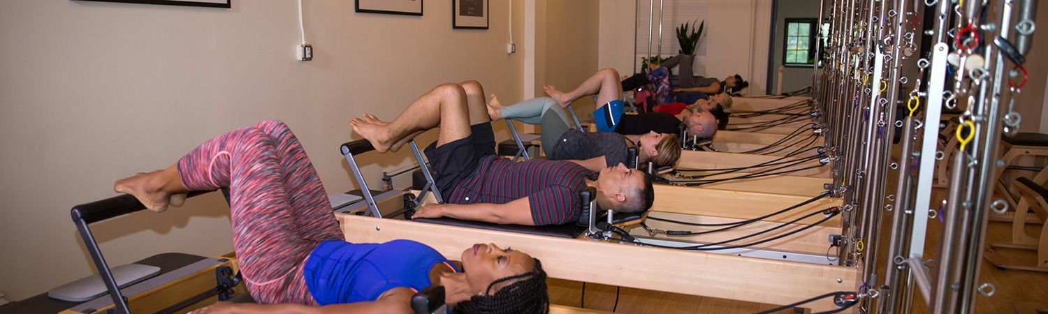 Reformer Pilates Group Fitness Class at PilatesWorks in Long Island City